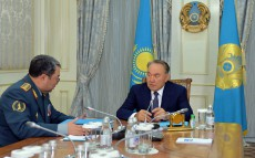 Meeting with Defense Minister Saken Zhasuzakov