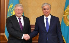 The Head of State received Ambassador of the Russian Federation to Kazakhstan Alexey Borodavkin