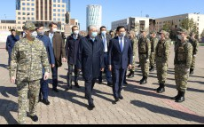 The Head of State meets with servicemen of the territorial defense brigade