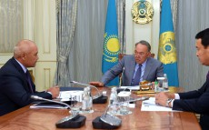 Meeting with Umirzak Shukeyev, Board Chairman of Samruk Kazyna JSC