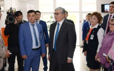 President of Kazakhstan Kassym-Jomart Tokayev visits mayor's office of Karatal district