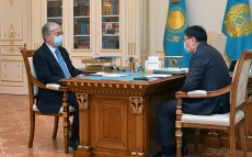 The Head of State receives Governor of the National Bank Erbolat Dossaev