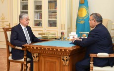 Kassym-Jomart Tokayev receives Askar Beisenbayev, Ambassador-designate of Kazakhstan to Belarus, Permanent Representative to the statutory bodies of the CIS in concurrently